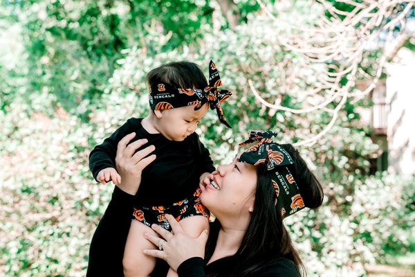 Bengals Mommy & Me Head Wrap SET