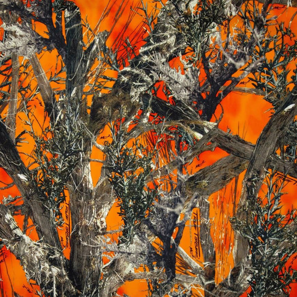 Orange Real Tree Camo Face Mask