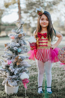 Gold and Hot Pink NutCracker Romper