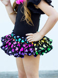 Black Rainbow Hearts VALENTINES Bloomer Skirt