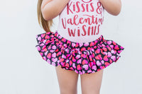 Black Red Pink Hearts VALENTINES Bloomer Skirt