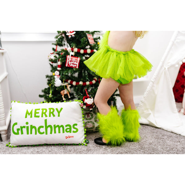 """The Grinch"" Faux Fur Leg Warmers"
