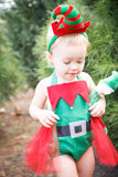 Green Little ELF Romper