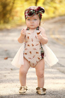 Ivory & Plaid GingerBread Romper