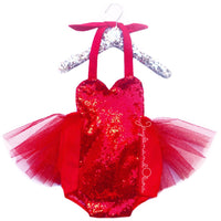 "Sparkle ""Lady in Red"" Romper"