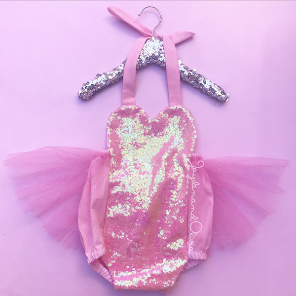 "Sparkle ""Pretty in Pink"" Romper"