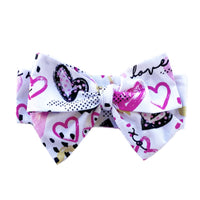 PINK BLACK GOLD HEARTS Head Wrap