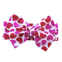 Pink & Red Hearts Head Wrap