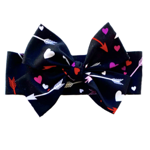 BLACK ARROW HEARTS  Head Wrap