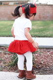 Red Tiny Dot VALENTINES Bloomer Skirt
