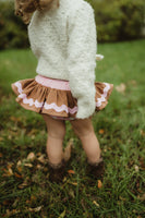 Baby Pink Gingerbread Bloomer Skirt