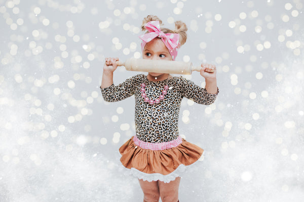 Eyelet Baby Pink GingerBread Bloomer Skirt