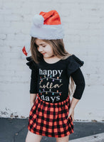 Red Buffalo Christmas Plaid Skirt