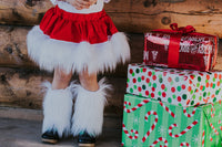 FAUX FUR Santa Skirt