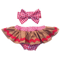 Small Gingham GingerBread Bloomer Skirt