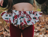 Plaid Christmas Trucks Bloomer Skirt