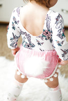 Bunny Tail BABY PINK Crushed Velvet Shorties