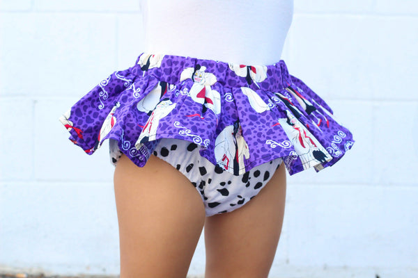 Purple Cruella DeVil Bloomer Skirt