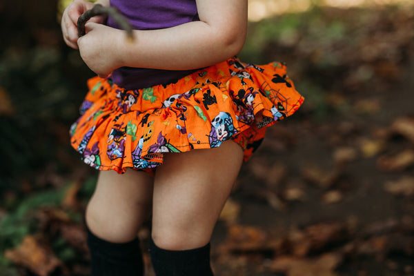 Orange Mickey HALLOWEEN Bloomer Skirt