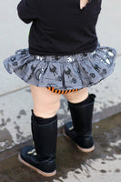 Grey Jack Skellington Org Stripe Bloomer Skirt