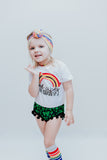 Four Leaf Clover ST. PATRICK'S DAY Pom Pom Shorties