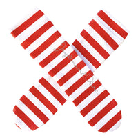 Red Stripe Knee High Socks