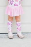 Donut Hearts Knee High Socks