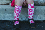 Kisses Knee High Socks