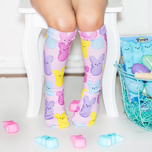 Pink Peeps Knee High Socks