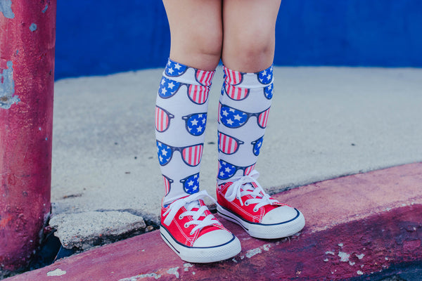 American Sunglasses Knee High Socks