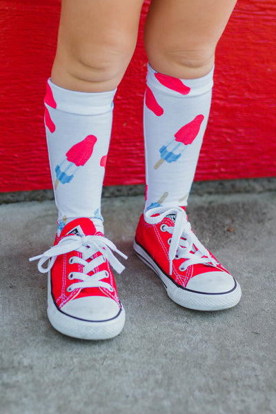 Fire Bomb Knee High Socks