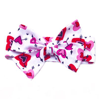 Pink & Red Arrow Hearts Head Wrap