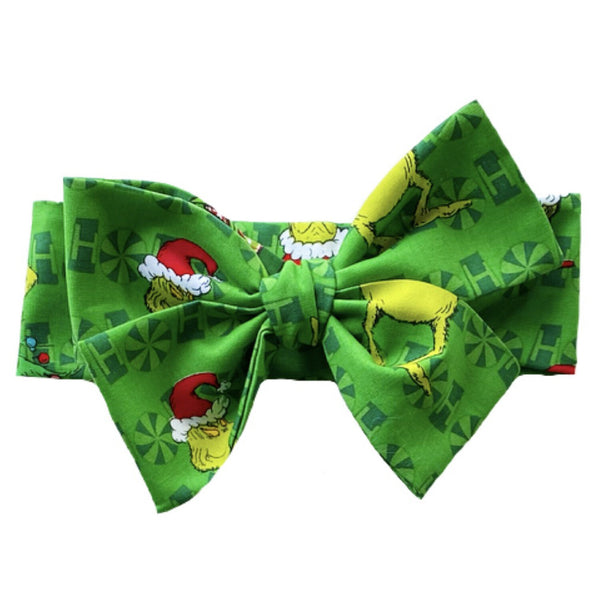 Green Grinch Head Wrap