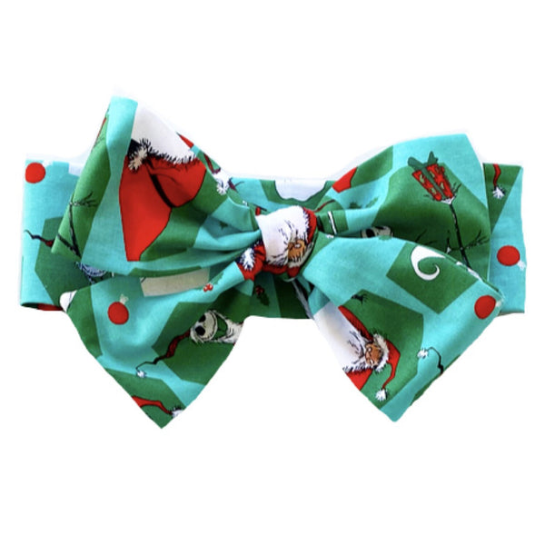 Green NBC Jack & Santa Head Wrap
