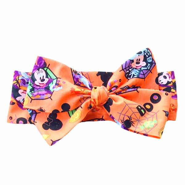 Orange  Mickey HALLOWEEN Head Wrap