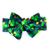 GOLD Glitter Four Leaf Clover ST. PATRICK'S DAY Head Wrap