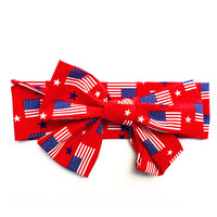 Red American Flag Head Wrap