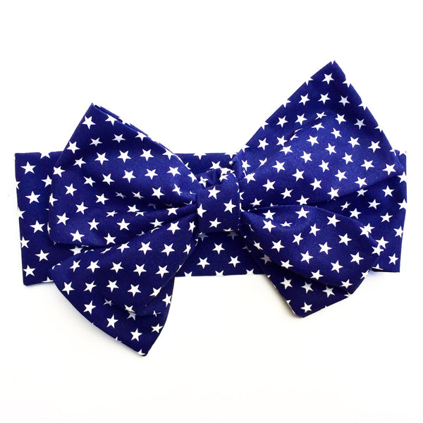Tiny Navy Stars Head Wrap