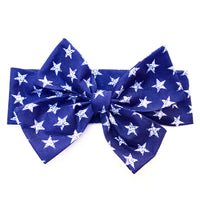 Navy Faded Stars Head Wrap