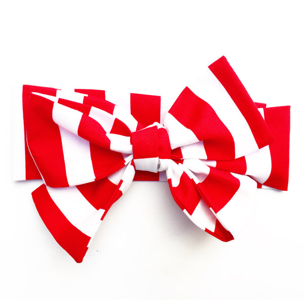 Red & White Stripe Head Wrap