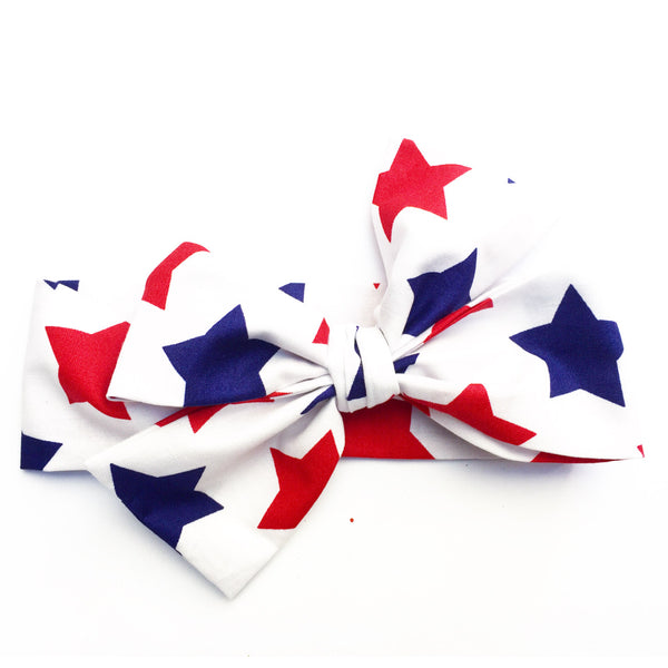 Large White Stars Head Wrap