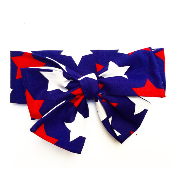 Large Blue Stars Head Wrap