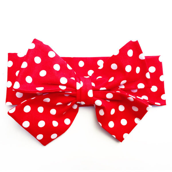 Red Polka Dot Head Wrap