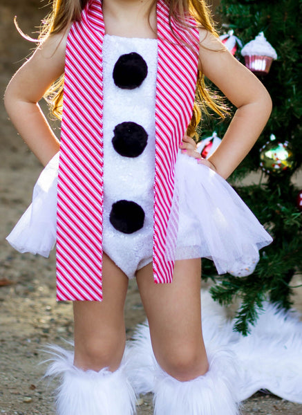 Frosty the Snowman's CANDY CANE Scarf