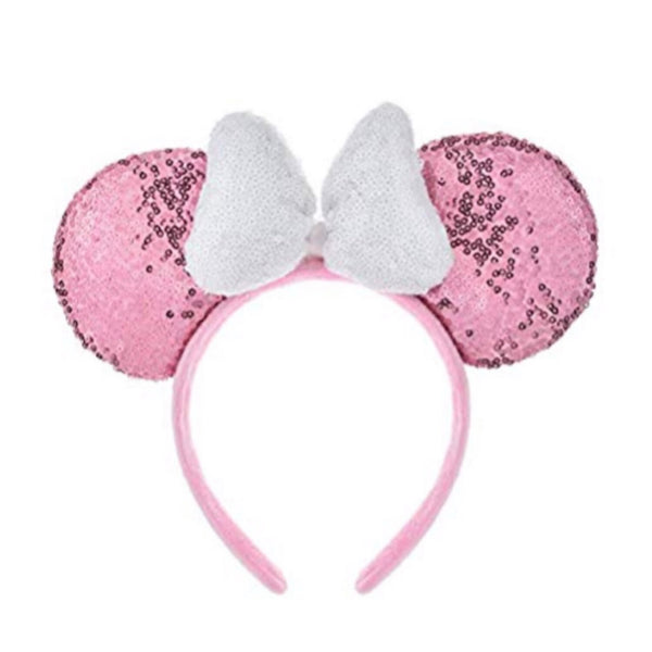Minnie Bow Pink Sequins Head Band