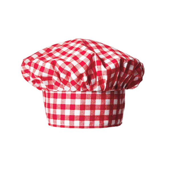 Red Gingham Chef Hat