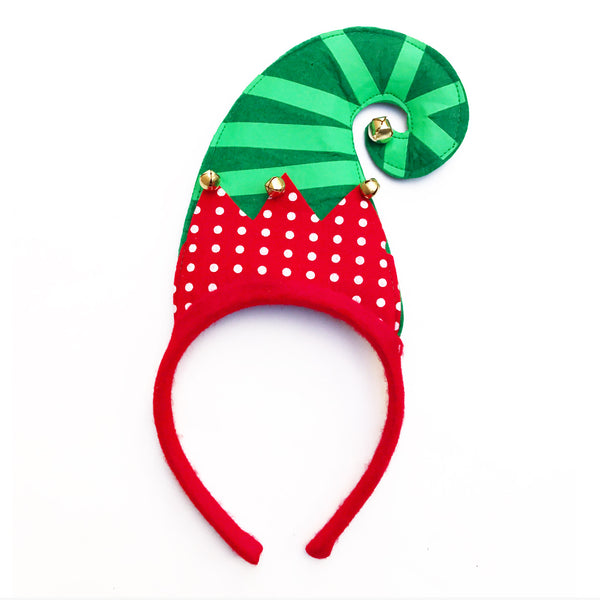 Jingle Bells Elf Hat Head Band