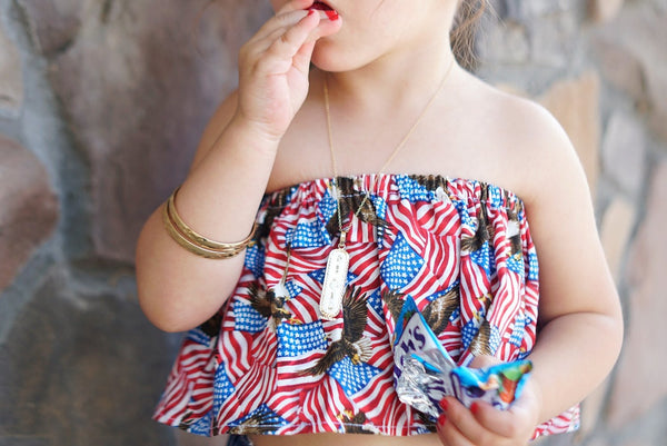 Star Spangled Banner Crop Top
