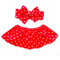 Red Stars Crop Top