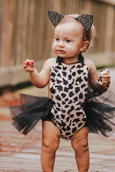 Cheetah Faux Fur Cat Romper